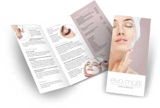 Eva Matti Beauty Therapy Switzerland DL brochure